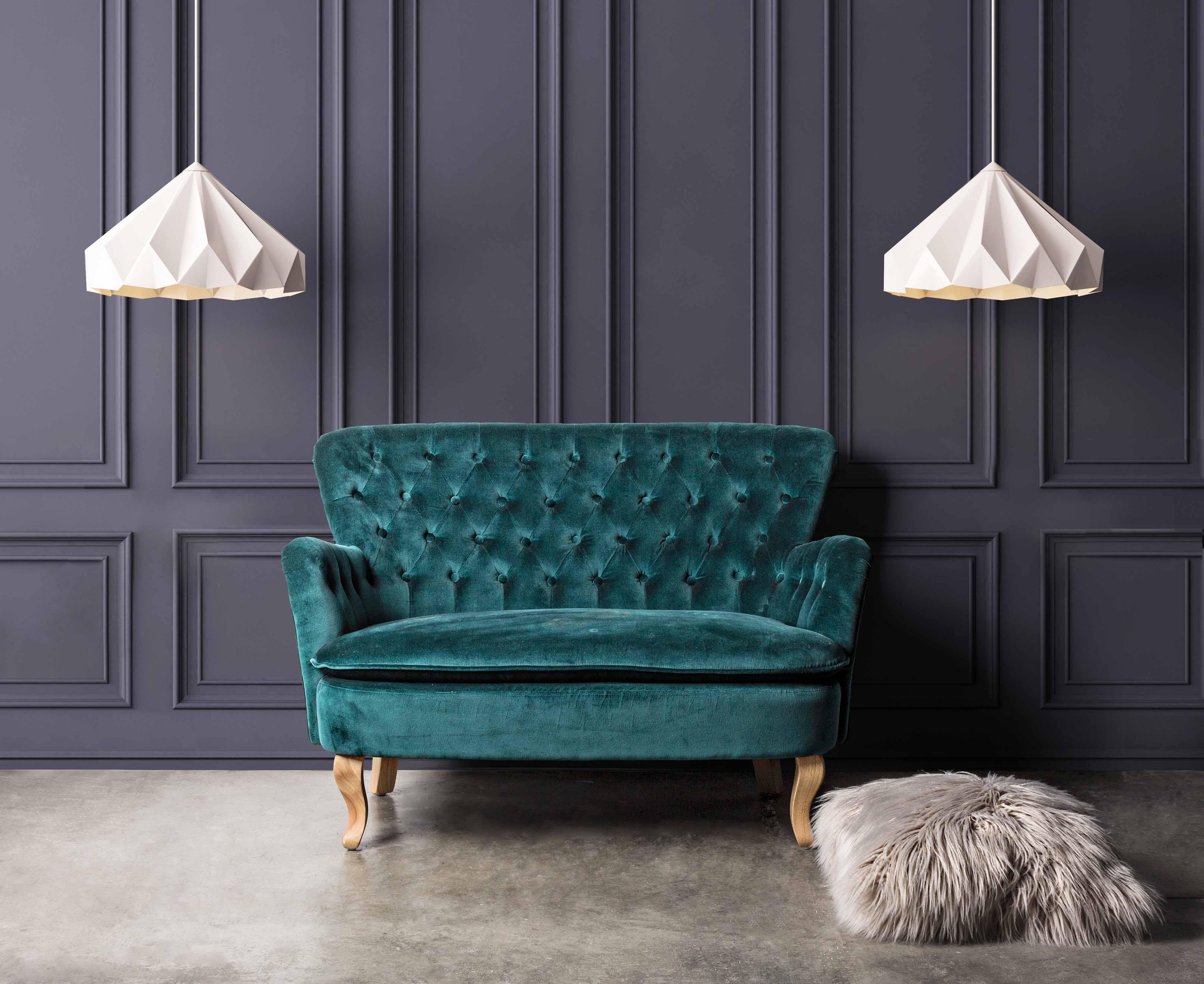 Velluto: il ritorno nelle nostre case del Trend Glamour anni Settanta.